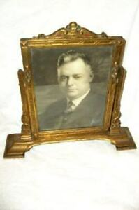 ART DECO BARBOLA ROSE SWAGS GILT SWING FRAME POLYCHROME ANTIQUE SIGNED PHOTO