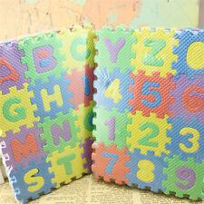 tapis puzzle en mousse 36 pieces pour 1er âge bébé jeu d'éveil lettre & chiffre