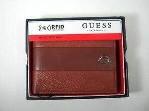 Guess Men's RFID Blocking Wallet  Bifold Tan 31GO220037