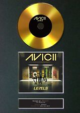 #167 AVICII Levels GOLD CD Signed Reproduction Autograph Mounted Repro A4