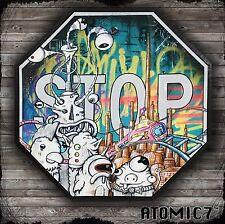 12x12 CHICKEN HEAD, RINGELSTETTER graffiti street tattoo pop art city skyline