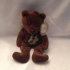 RARE J C CELEBRITY BEAR STAR #33 BORN A STAR Brown Bear BEATLES MINT Plastic Tag