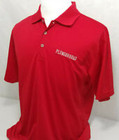 Adidas Golf Climalite Plungerhead Wines Red S/S Performance Polo Shirt Mens L