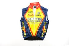 Verge Full Zip Sz. L+ Mesh Back Cycling Vest Synthetic Yellow Blue Red Zip Air