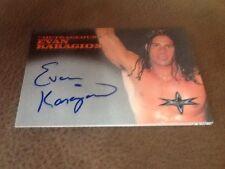 Topps WCW Autograph Card Evan Karagios