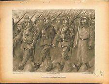 Parade Feldgrauen Deutsches Heer Chants Tombeau Peinture Lucien Jonas 1915 WWI