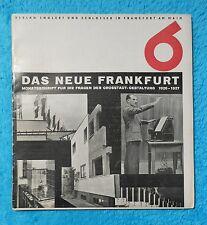 DAS NEUE FRANKFURT 1926 1927 Ernst MAY Englert & Schlosser Bauhaus Architektur