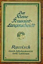 Der kleine Toussaint-Langenscheidt Russisch Sprachführer, alt, gut erhaltern