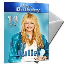 Hannah Montana - Personalised Birthday Card Large A5