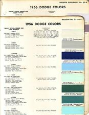 1956 DODGE CAR AND TRUCK PAINT CHIPS  (DUPONT)