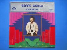 """BEPPE GRILLO """"La deve smettere!"""" RARO LP NUOVO MAI SUONATO! CABARET"""