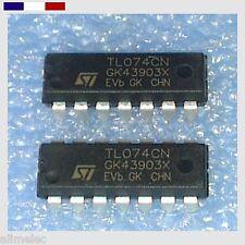 AmpOp - Tl074 - quad j-FET Faible bruit - 4 Pcs - Amplificateur Opérationnel
