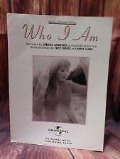 Warner Bros 2000 Who I Am Jessica Andrews Original Sheet Music Edition w/ Lyrics