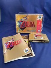 Legend of Zelda Ocarina of Time 64 N64 Nintendo Game w/ Manual In Box!