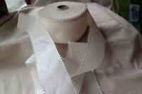 "50 yard roll vintage 100% rayon white 2 1/2"" wide picot ribbon wedding hat dress"