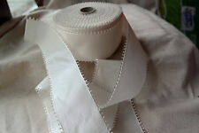 50 yard roll vintage 100% rayon white 2 1/2