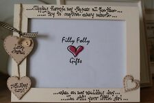 Personalised Photo Frame by Filly Folly! Wedding Gift