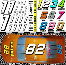 WHITE  (#1's) Racing Numbers Decal Sticker Sheet 1/8 - 1/10 -1/12 for RC Models