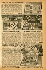 1940 small Print Ad of Gilbert Electricity, Science Craft Electro Physics Outfit