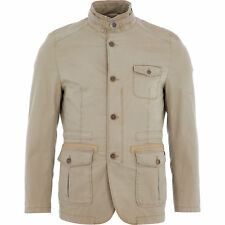 CALAMAR Men's Beige Regular Fit Cotton Blazer, size 52 / M-L