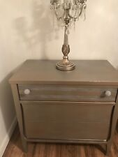 accent cabinet metallic antique