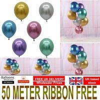 "10/20 CHROME BALLOONS METALLIC LATEX PEARL 12"" Helium Balloon Birthday Party"