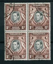 Kenya Uganda Tanganyika KGVI 1938-54 1c black & chocolate brown SG131ad used blk