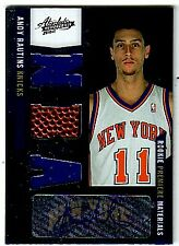 2010-11 Absolute Memorabilia #182 Andy Rautins RC Auto Jersey Ball /499