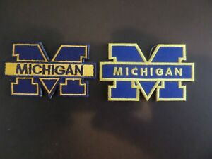 "LOT OF 2- DIFFERENT MICHIGAN "" NCAA"" EMBROIDERED IRON ON PATCHES"