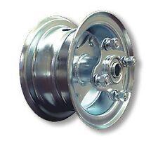"Mini Bike GO KART Plated 6"" Split Rim Steel Wheel BEARINGS SPROCKET Hub Hardware"