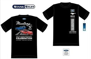 Mustang 50th Anniversary Celebration Official Event T Shirt Black - FREE SHIP!