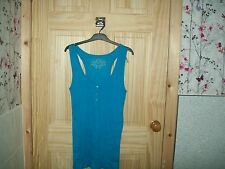 ***LOOK*** NEW BLUE RIBED TOP SPORTS BACK SIZE 18**