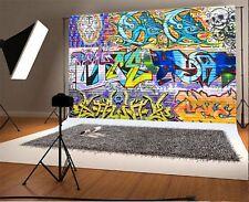 Graffiti Wooden Wall Background 7x5ft Hip-hop Dancer Photography Backdrops Vinyl