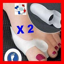 protecteur et redresseur orteil silicone blanc valgus X 2 correcteur pieds