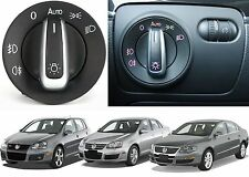 Chrome Black Euro Headlight Switch For 2005-2013 VW MK5 MK6 Models New Free Ship