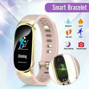 Smart Watch Bracelet Fitness Activity Tracker for Women Ladys Men iPhone Android