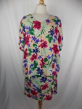 Lot of 2 Trendy Looks Women's 2 pc Top & Skirt Colorful Floral Size 3X