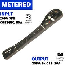 APC AP7867 Rack PDU Metered ZeroU 14.4kW 208V 3PH 50A (CS8365) (6)C19