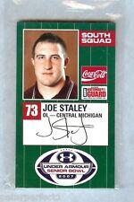 JOE STALEY CMU CENTRAL MICHIGAN CHIPPEWAS 2007 SENIOR BOWL SAN FRANCISCO 49ers