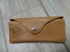 1950s vintage RAY BAN sunglasses case LEATHER brown