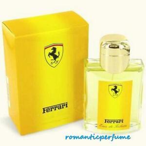 Ferrari YELLOW By Ferrari 4.2 oz ( 125 ml ) EDT SPRAY Men NEW IN BOX