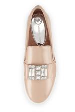 Michael Kors Michelle Women's Light Blush Faux Patent Jewel Sneaker Sz 9 M $199