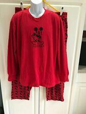 Mickey Mouse Mens PJ Set Sleepwear Size XL (40-42) (46-48) Red/Black Worn In