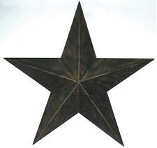 "24"" BARN STAR METAL ART RUSTIC BRONZE WESTERN HOME DECOR RUSTY ART"