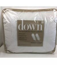 Charter Club European White Down MEDIUM Weight F/QUEEN Comforter Retail $400