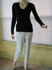 DVF Diane von Furstenberg 100% Cashmere Sweater Size P Black off White Excellent