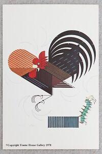 "1970s Charley Harper Crawling Tall Frameable Print Advertising Postcard 4x6"""