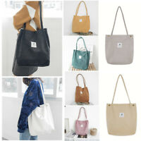 For Women Corduroy Shoulder Shopping Bag Tote Crossbody Bags Satchel Handbag
