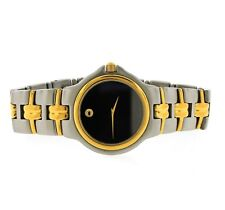 Mens Movado Museum 81.E2.887.2 Two-Toned Black Dial Swiss Wrist Watch
