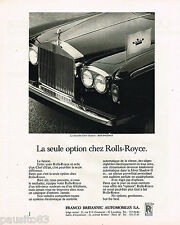 PUBLICITE ADVERTISING 055  1977  FRANCO BRITANNIC-AUTOMOBILES  la ROLLS-ROYCE